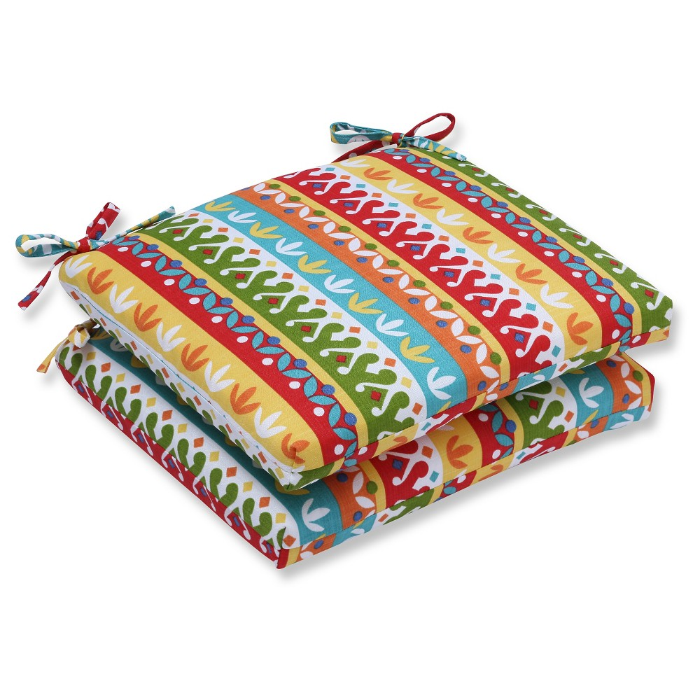 Pillow Perfect Outdoor Cushion Set - Multicolored