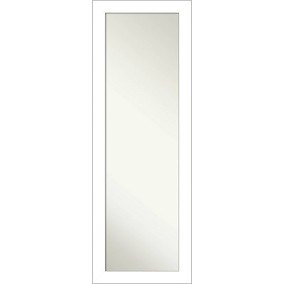 "18"" x 52"" Wedge Framed On the Door Mirror White - Amanti Art"