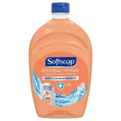 Softsoap Antibacterial Liquid Hand Soap Refill - Crisp Clean - 50 fl oz