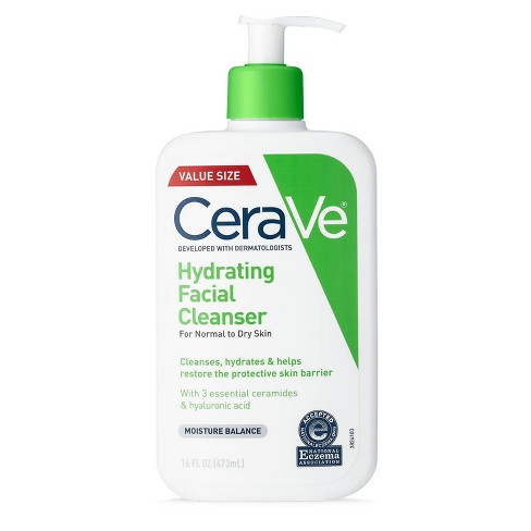 CeraVe Hydrating Facial Cleanser for Normal to Dry Skin - 16 fl oz - image 1 of 4