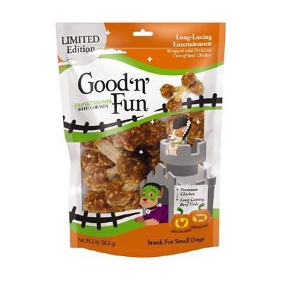 Good 'n' Fun Frankenbones Chicken Dental Chews Dog Treats - 2oz