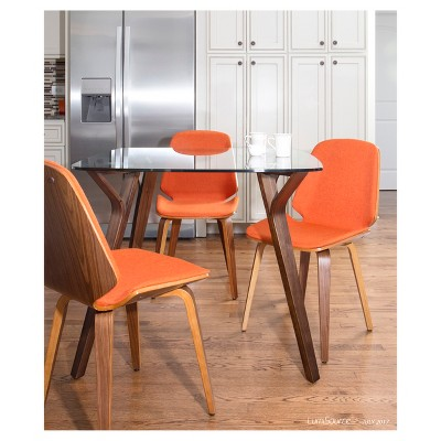 Serena Mid Century Modern Dining Chair (Set of 2) - Orange - LumiSource