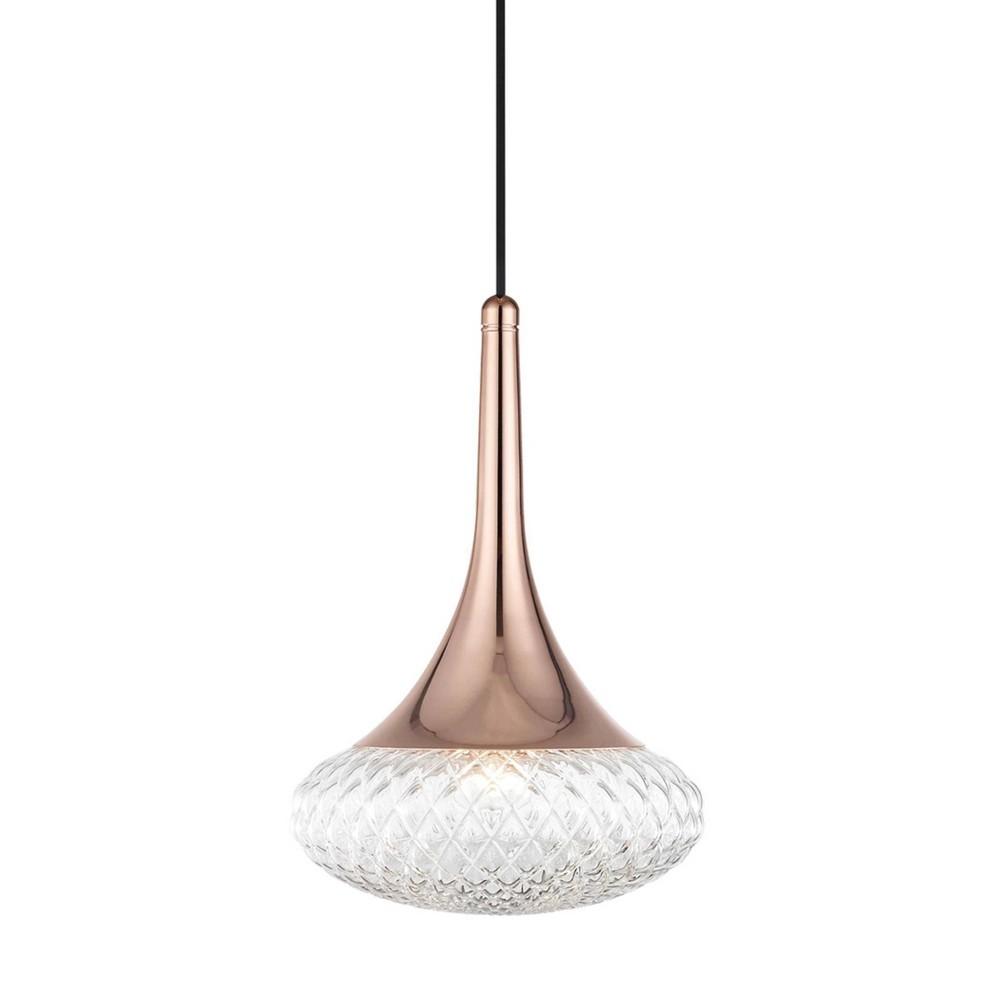Bella 1-Light Pendant Chandelier Style D Polished Copper - Mitzi by Hudson Valley Buy