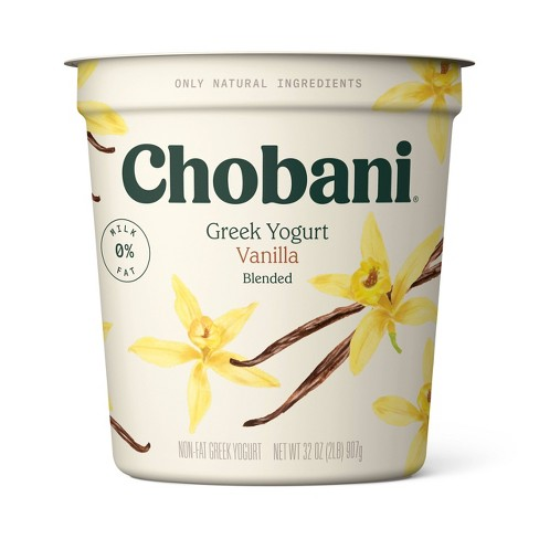 Chobani Vanilla Blended Nonfat Greek Yogurt - 32oz - image 1 of 1