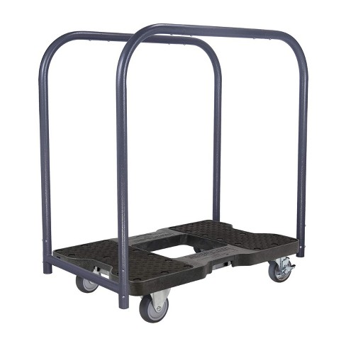 Snap Loc 1,200 lb Capacity General Purpose E Track Panel Cart Dolly Black, Heavy Duty 4 in Thermoplastic Swivel Non Marking Caster Wheels - image 1 of 4