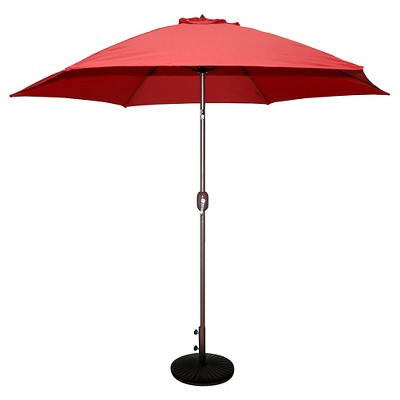 9' Round Crank Patio Umbrella - Red - Tropishade