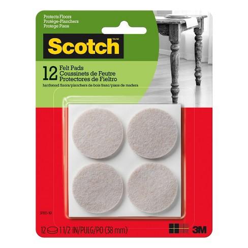 "Scotch 1.5"" 12pk Felt Pads Beige - image 1 of 2"