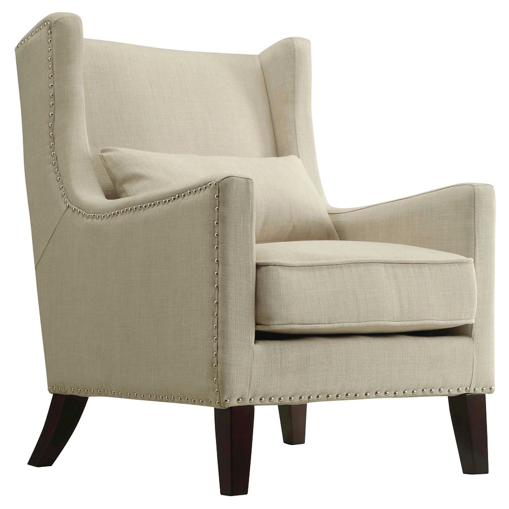 Murray Wingback Arm Chair Beige - Inspire Q