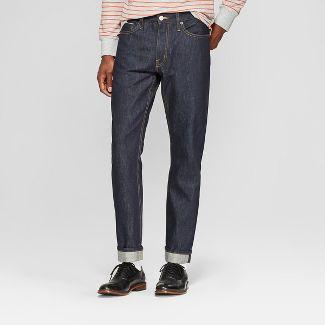 Men's Slim Fit Selvedge Denim - Goodfellow & Co™ Dark Rinse 32x32