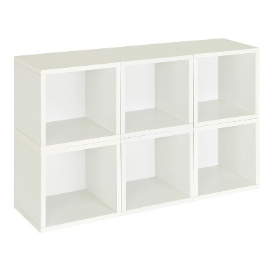 Way Basics 6 Stackable Eco Cubes Storage, White   Formaldehyde Free    Lifetime Guarantee