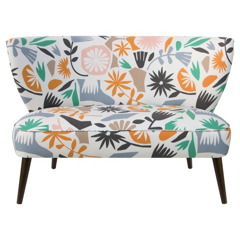 Mykal Armless LoveSeat - Cutout Floral Dusty - Skyline Furniture® - image 1 of 6