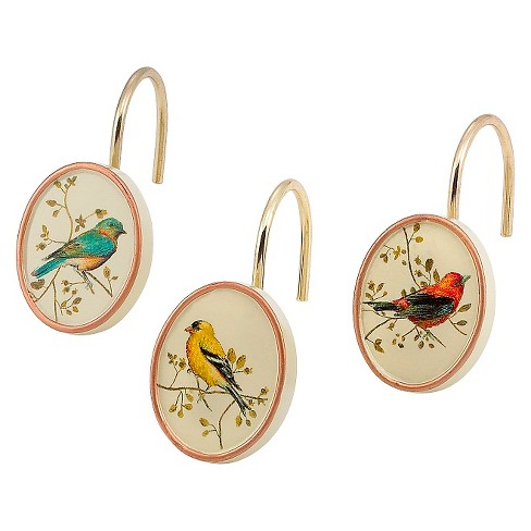 Gilded Birds Shower Hook Set Ivory Avanti Linens Target
