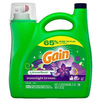 Gain Moonlight Breeze Liquid Laundry Detergent - 165 fl oz