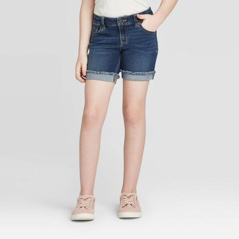 Girls' Midi Jean Shorts - Cat & Jack™ : Target