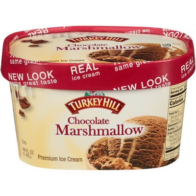 Turkey Hill Chocolate Marshmallow Ice Cream - 48oz
