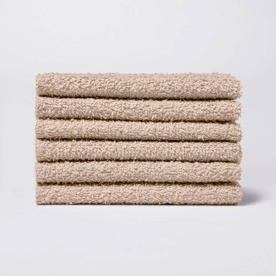 6pk Washcloth Cocoa - Room Essentials™