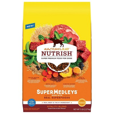 Rachael Ray Nutrish Super Medleys Vitality Blend Superfoods & Beef Recipe Adult Super Premium Dry Dog Food