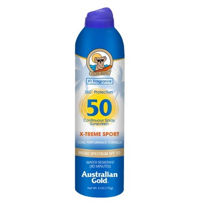 Sunscreen & Tanning: Australian Gold X-treme Sport