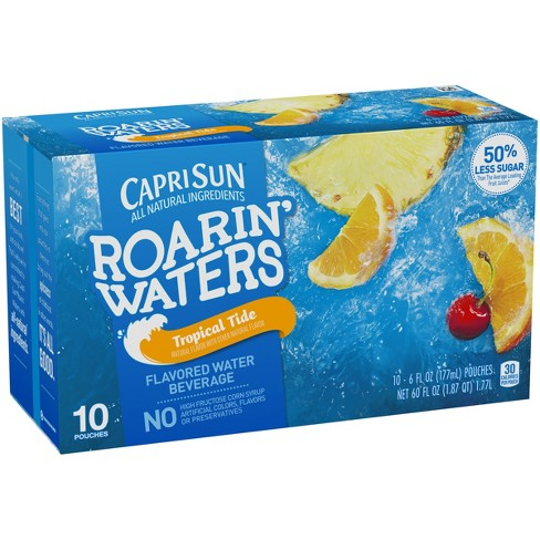 Capri Sun Roarin' Waters Tropical Fruit Juice Drinks - 10pk/6 fl oz Pouches - image 1 of 3