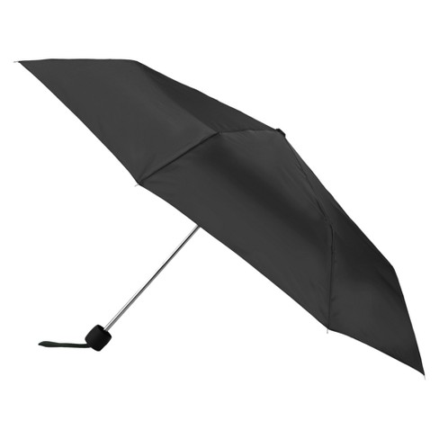 Totes Water Resistant Foldable Manual Open Compact Umbrella - Black - image 1 of 3