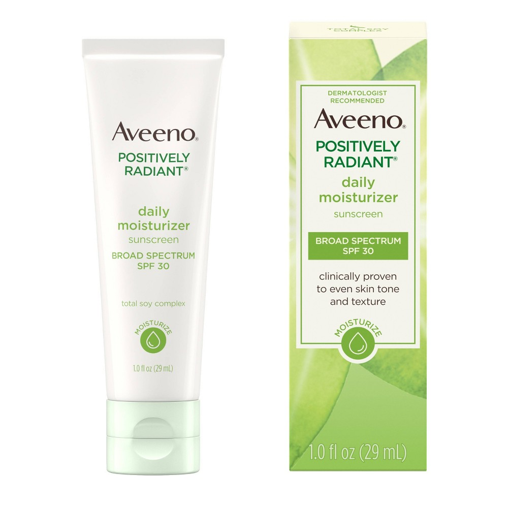 Image of Aveeno Positively Radiant Daily Moisturizer with Soy - SPF 30 - 1 fl oz