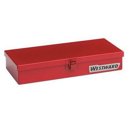 """WESTWARD 35XR65 10-1/4""""W Red Socket Storage Box, Powder Coated"""