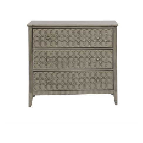 Brooke 3 Drawer Cabinet Powder Gray - Powell Company - image 1 of 9