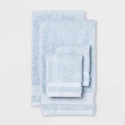 4pk Hand & Wash Towel Set Quiet Aqua - Made By Design™