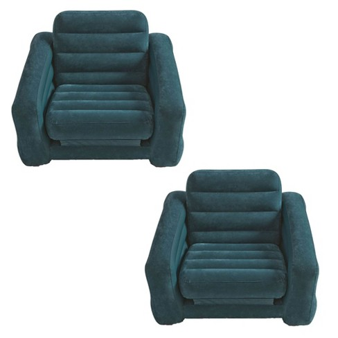 Intex Inflatable Pull Out Chair and Twin Bed Air Bed Mattress Sleeper (2 Pack) - image 1 of 4