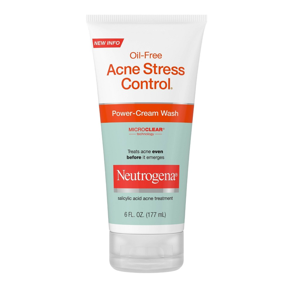 Neutrogena Oil Free Acne Stress Control Power Cream Wash 6 Fl Oz