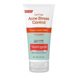 Neutrogena Oil-Free Acne Stress Control Power-Cream Wash - 6 fl oz