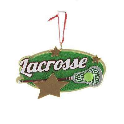 "Holiday Ornament 2.5"" Lacrosse Field Stick Ball Stars  -  Tree Ornaments"