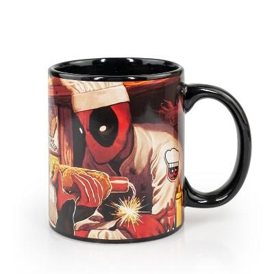 Surreal Entertainment Dead Pool Costume   Dead Pool Atomic Changa Ceramic Coffee Mug   12 oz