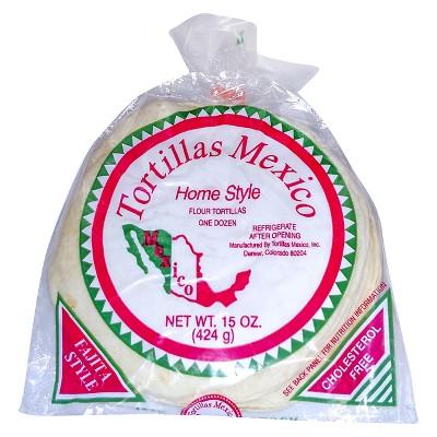 Tortillas Mexico Home Style Flour Tortillas - 15oz/12ct
