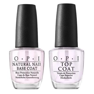 OPI Nail Polish Top Coat/Base Coat - 2pk