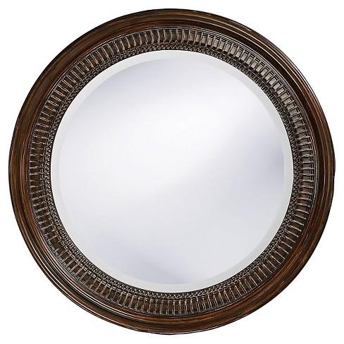 Round Monmouth Decorative Wall Mirror Brown Howard Elliott