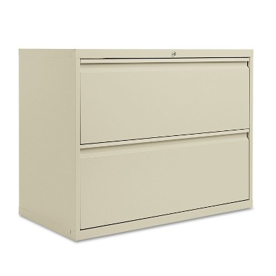 Alera Two-Drawer Lateral File Cabinet, 36w x 19-1/4d x 28-3/8h, Putty LF3629PY
