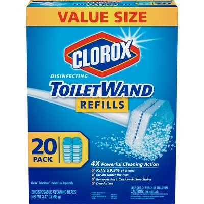Clorox Disinfecting Toilet Wand Refills - 20ct