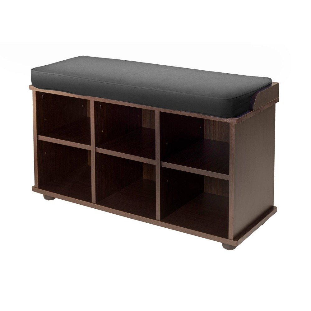 Townsend Entry Bench With Cushion And Storage Espresso - Winsome, Black Espresso