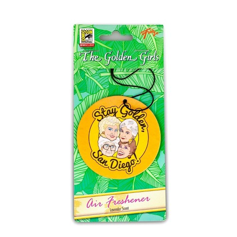 "Just Funky Golden Girls ""Stay Golden, San Diego!"" Car Air Freshener 