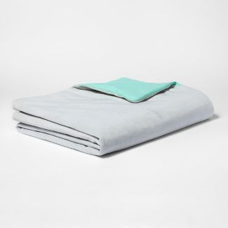 """60""""x40"""" 6lbs Waterproof Removable Cover Weighted Blanket Gray - Pillowfort™"""