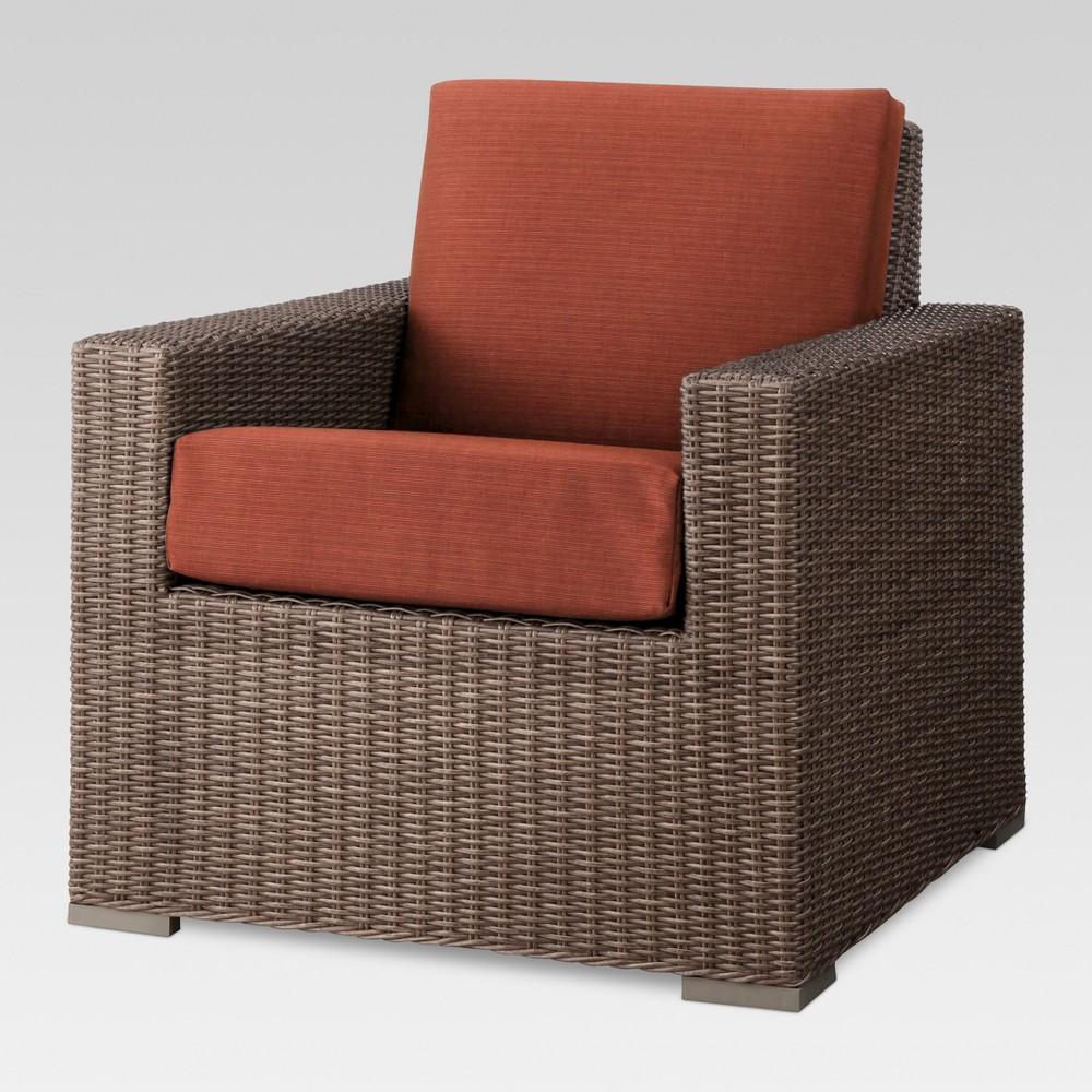 Heatherstone Wicker Patio Club Chair Orange - Threshold