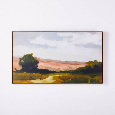 "27"" x 47"" On Sunset Mesa Medium Wood Framed Wall Canvas - Threshold™ designed with Studio McGee"
