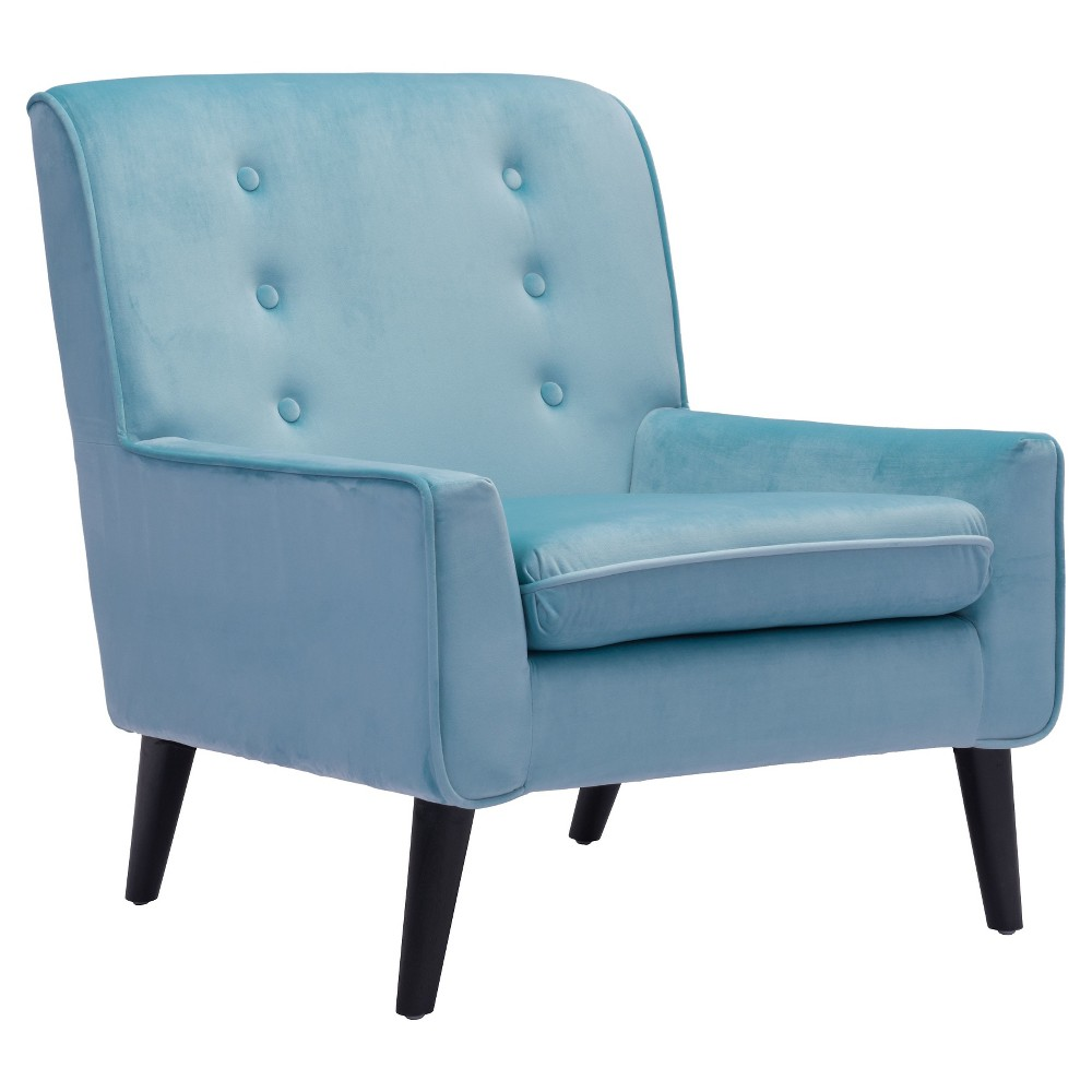 Retro Style Upholstered Arm Chair - ZM Home, Blue