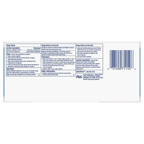 מודרניסטית Crest Pro-Health Smooth Formula Toothpaste Clean Mint Paste - 4.6 LK-77