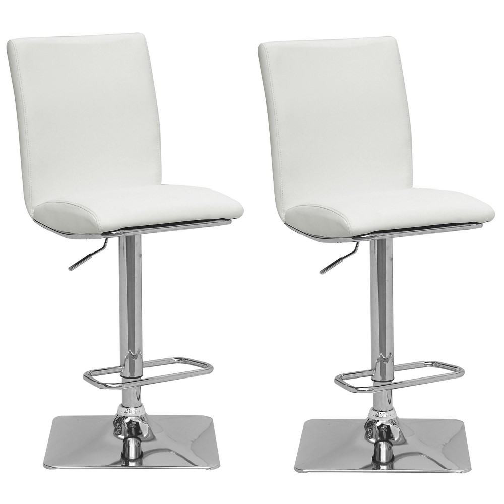 Set of 2 Counter And Bar Stools White - CorLiving