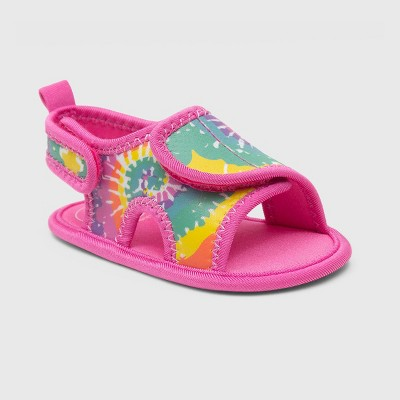 Ro+Me by Robeez Baby Girls' Tie-Dye Ankle Strap Sandals - 12-18M