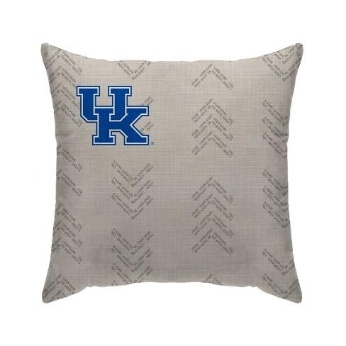 Ncaa Kentucky Wildcats Wordmark Decorative Throw Pillow Target