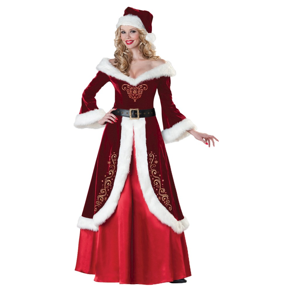 Image of Halloween Women's Mrs. St Nick Costume - Small, MultiColored