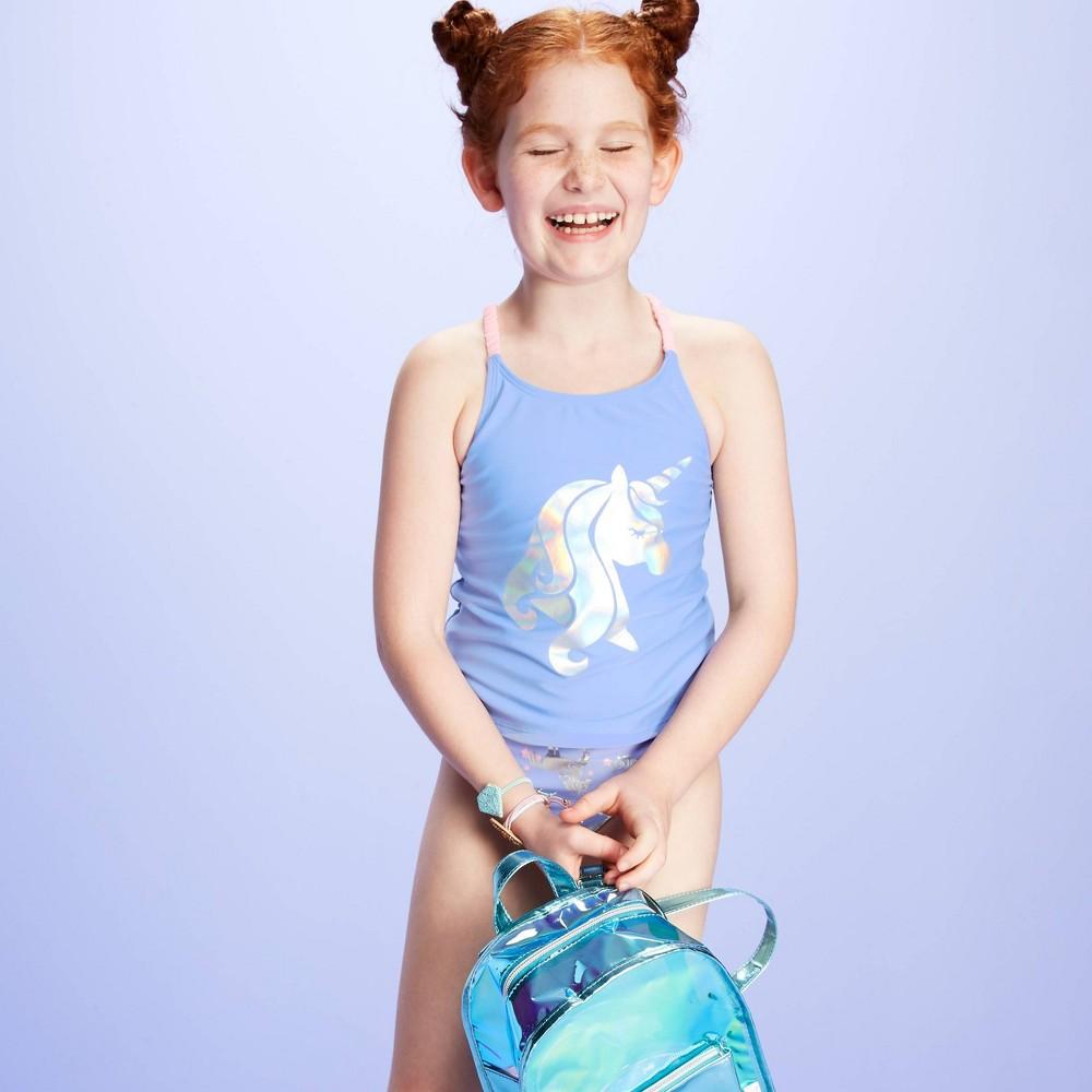 Image of Girls' I Believe In Unicorns Tankini Set - More Than Magic Purple L, Girl's, Size: Large